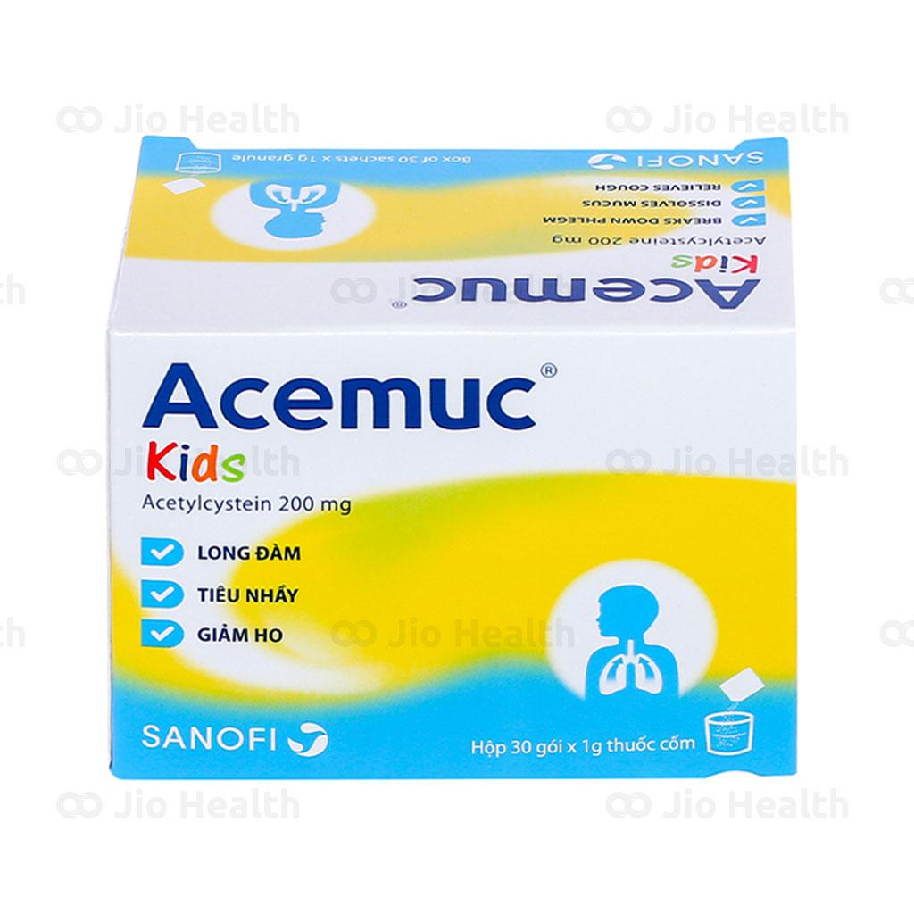 Thuốc ho long đờm Acemuc 200mg